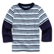 Okie Dokie® Long-Sleeve Striped Tee – Boys 2t-6