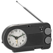 Natico AM/FM Radio with Analog Alarm Clock