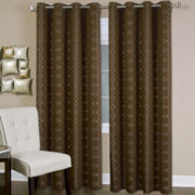 Faye Grommet-Top Curtain Panel
