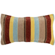 Sebring Stripe Chenille Oblong Decorative Pillow