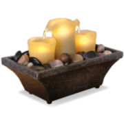 Flameless LED Candle Fountain