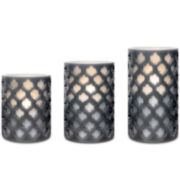 3-pc. Patterned Lattice Flameless LED Candle Set