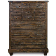 Nashville Rustic Pine Drawer Chest