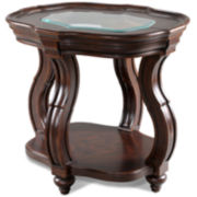 "Nina 24"" Glass Top End Table"