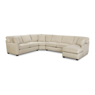 jcpenney.com | Fabric Possibilities Sharkfin-Arm 4-pc. Left-Arm Loveseat/Chaise Sectional