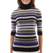 Liz Claiborne Elbow-Sleeve Turtleneck Sweater