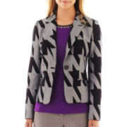 Worthington® 1-Button Print Jacket