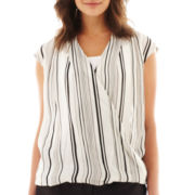 Worthington® Short-Sleeve Crossover Blouse