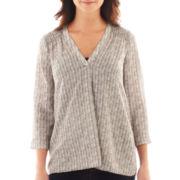 a.n.a® 3/4-Sleeve Shirred Shoulder Top