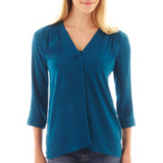 a.n.a® 3/4-Sleeve Shirred Shoulder Top