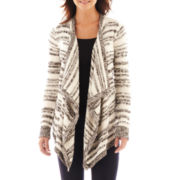 a.n.a® Long-Sleeve Striped Flyaway Cardigan