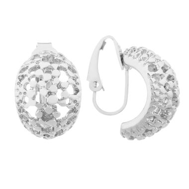 jcpenney.com | Liz Claiborne Silvertone Pebbled Clip On Earrings