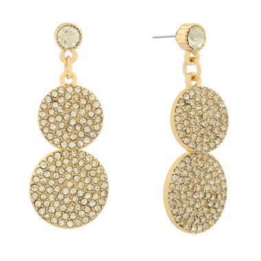 jcpenney.com | Monet Clear Goldtone Double Drop Earring