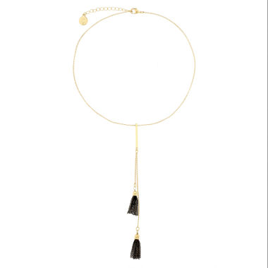 jcpenney.com | Liz Claiborne Goldtone Double Tassel Necklace