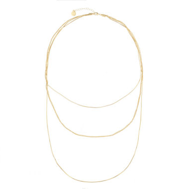 jcpenney.com | Liz Claiborne Goldtone Three Row Necklace