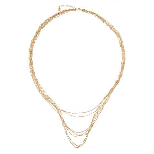 Liz Claiborne Goldtone Long Strandage Necklace