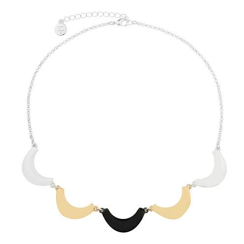 Liz Claiborne Collar Necklace Mixed Metal