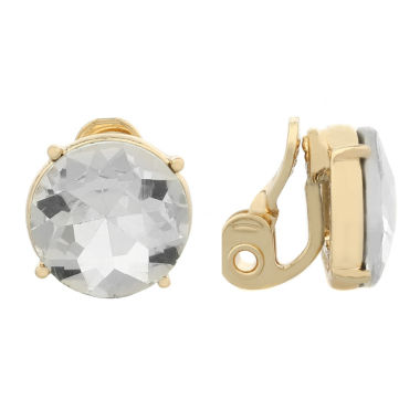 jcpenney.com | Monet Jewelry Clear And Goldtone Stud Clip Earring