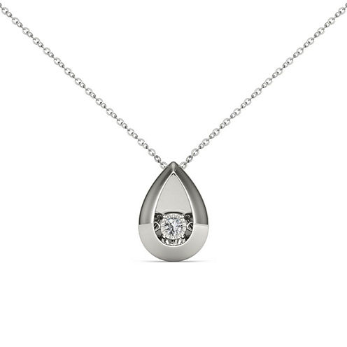 Love in Motion Diamond Accent White Diamond Accent Round Pendant