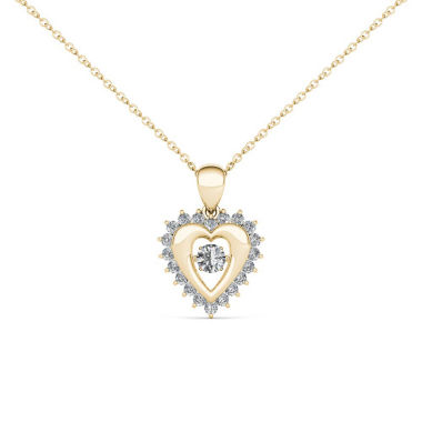 jcpenney.com | Love in Motion 1/4 CT. T.W. White Diamond Round 10K Gold Pendant