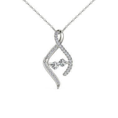 jcpenney.com | Love in Motion 1/3 CT. T.W. White Diamond Round 10K Gold Pendant