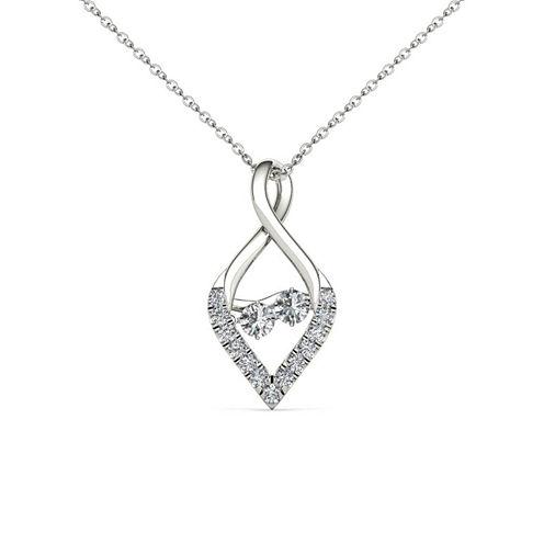 Love in Motion 1/3 CT. T.W. White Diamond Round 10K Gold Pendant