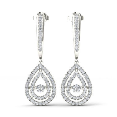 jcpenney.com | 1/2 CT. T.W. White Diamond 10K Gold Drop Earrings