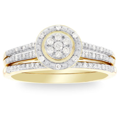 jcpenney.com | Womens 1/5 CT. T.W. White Diamond 10K Gold Bridal Set