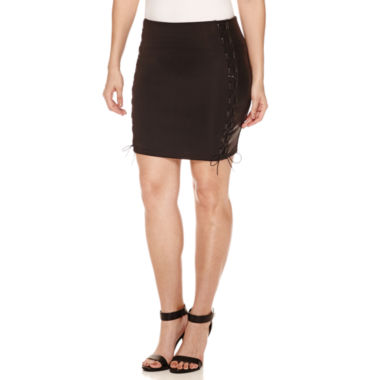 jcpenney.com | Bisou Bisou Lace Up Mini Skirt