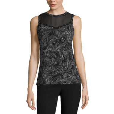 jcpenney.com | Worthington Sleeveless Crew Neck T-Shirt