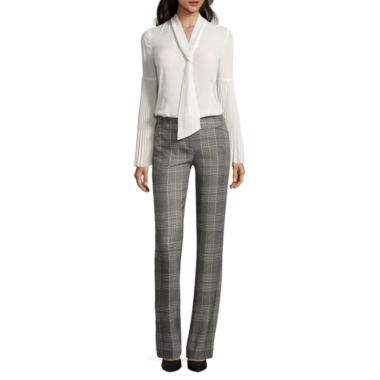 jcpenney.com | Worthington Y Neck Blouse and Modern Fit Trouser