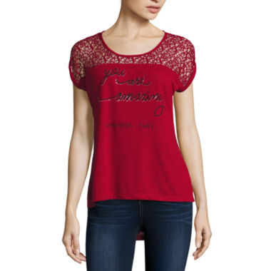 jcpenney.com | i jeans by Buffalo Short Sleeve Scoop Neck Screen Tee