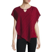 Alyx Short Sleeve Scoop Neck Woven Blouse