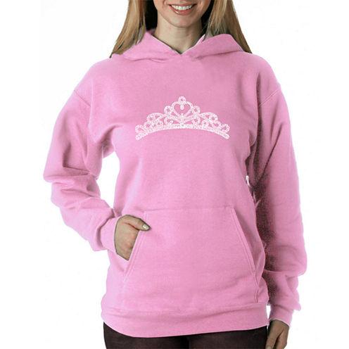 Los Angeles Pop Art Women's Hooded Sweatshirt -Princess Tiara - Plus