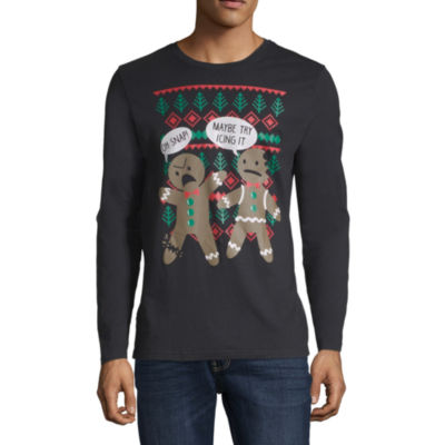 oh snap gingerbread christmas graphic tee