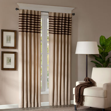 jcpenney.com | Dune 2-Pack Two-Tone Stripe Rod-Pocket/Back-Tab Curtain Panels