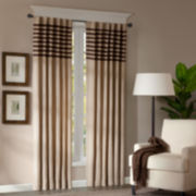 Dune Rod-Pocket/Back-Tab Curtain Panel Pair
