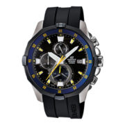 Casio® Edifice Marine Mens 20ATM Black Chronograph Watch