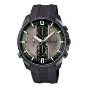 Casio® Edifice Active Race Mens Black Rubber Strap Chronograph Watch