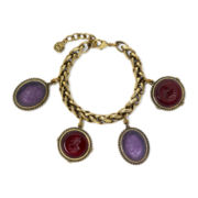 Monet® Purple Cameo Charm Bracelet