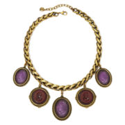 Monet® Purple Cameo Pendant Necklace
