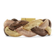 Monet® Tri-Tone Braided Magnet Bracelet