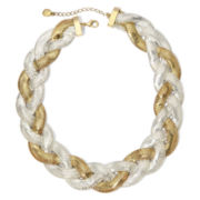 Monet® Two-Tone Braided Collar Necklace