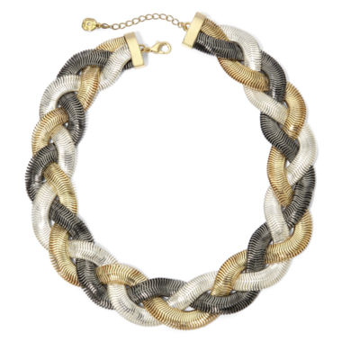 jcpenney.com | Monet® Tri-Tone Braided Collar Necklace