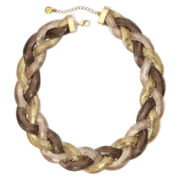 Monet® Tri-Tone Braided Collar Necklace
