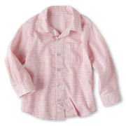 Okie Dokie® Striped Woven Shirt - Boys 12m-6y