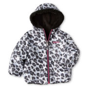 Pacific Trail Reversible Leopard-Print Jacket - Girls 12m-6y