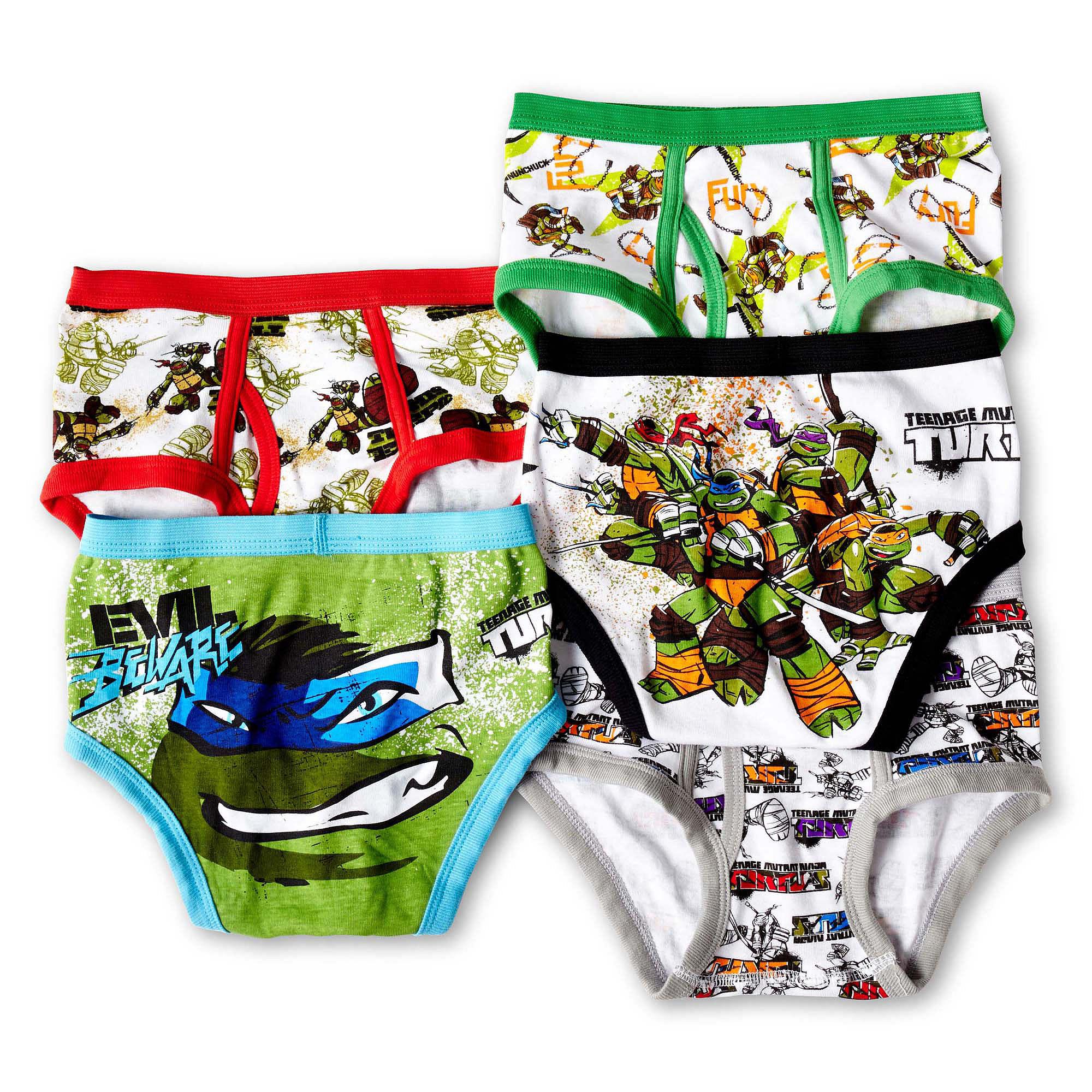 8 Assorted 5-Pack Nickelodeon Big Boys Ninja Turtles Brief