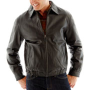 Excell Leather Bomber Jacket