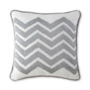 Happy Chic by Jonathan Adler Silver Chevron Decorative Pillow